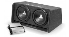 JL Audio basspakke 2x12 kasse + 500 watt forsterker