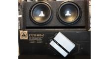 JL Audio basspakke 2x12 kasse + 1000watt 1